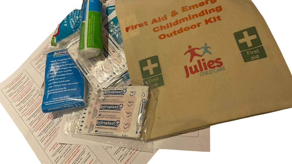 Outdoor Mini First aid and Emergency Childminding Bag