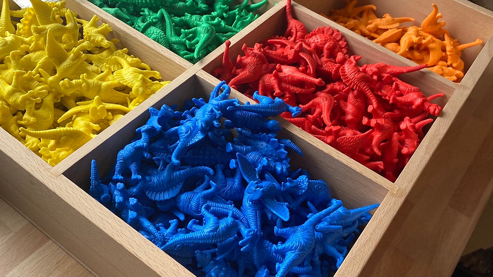 Silicone Dinasaurs pack of 20