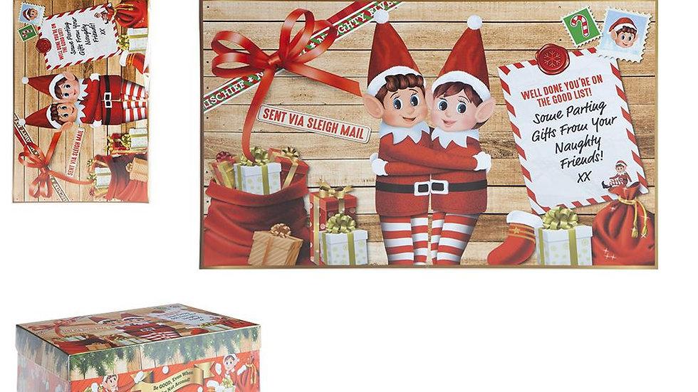 Mini Elf Design Xmas Eve Box