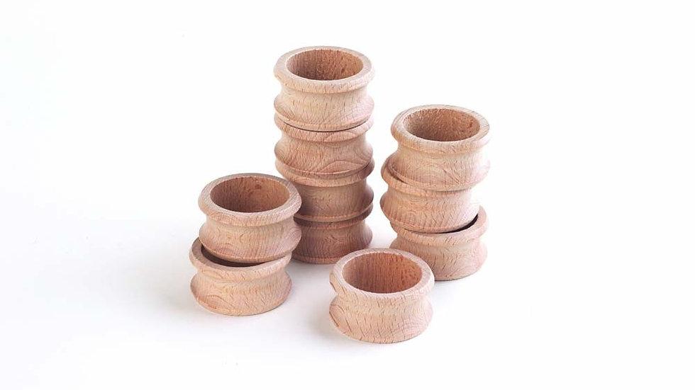 Wooden Napkin Rings - Pk10
