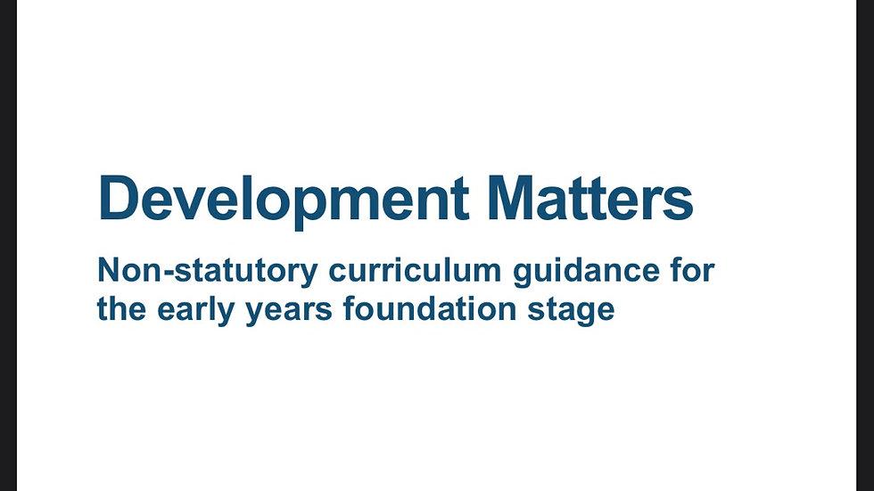 Development Matters 2020