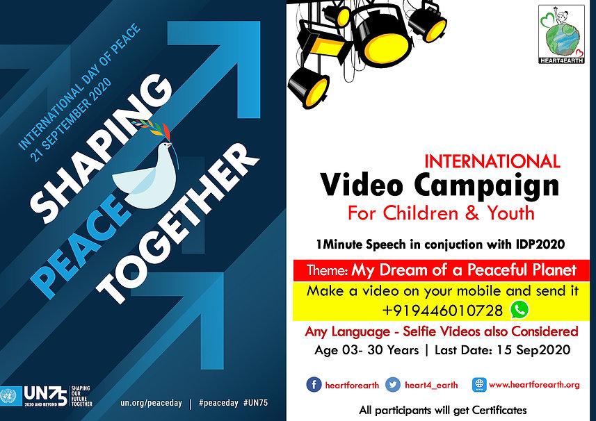 IDP2020 International Peace Day 2020vide