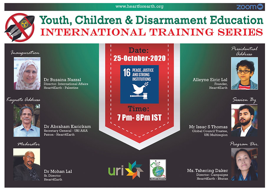 webinar on disarmament education for chi