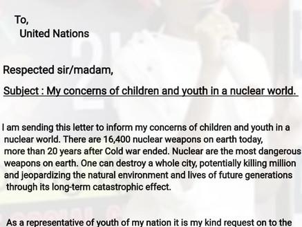 Peace Letter Campaign I-Anti Nuclear  Ca