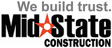 Mid State Logo with We build trust gray