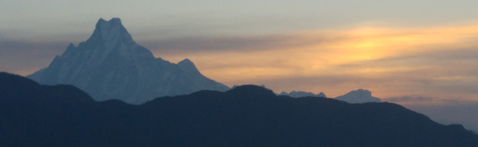 Machupuchare from Poon Hill at dawn