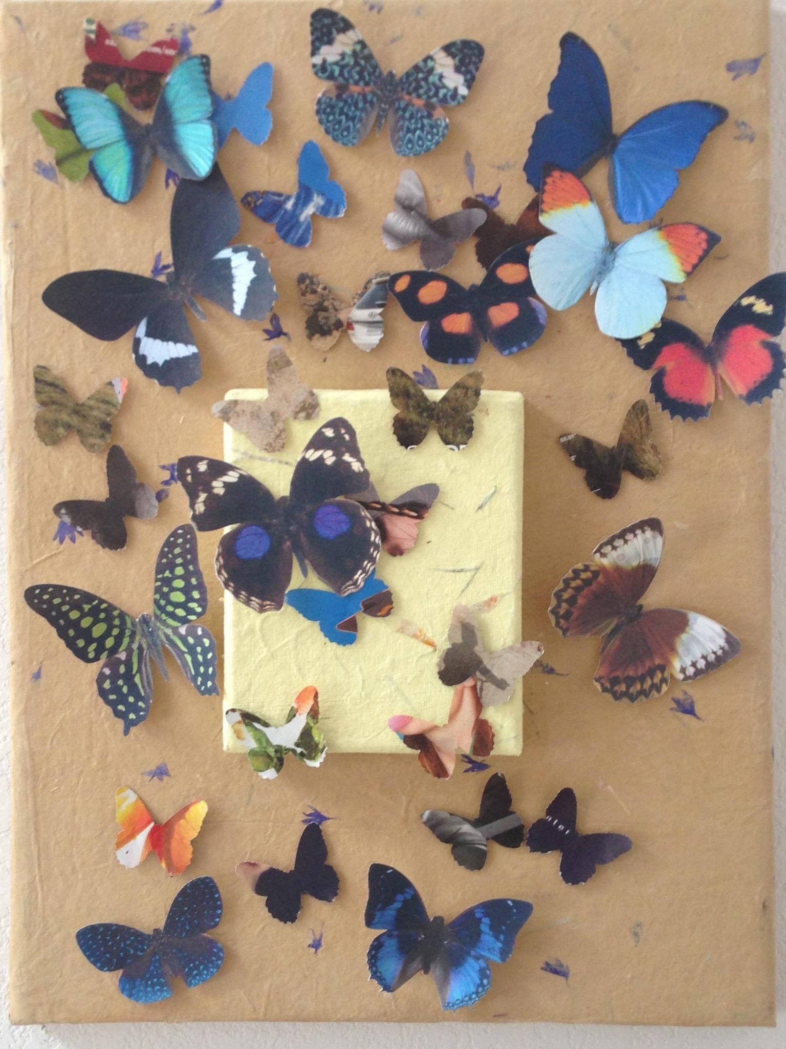 Brown Butterflies Collage-001