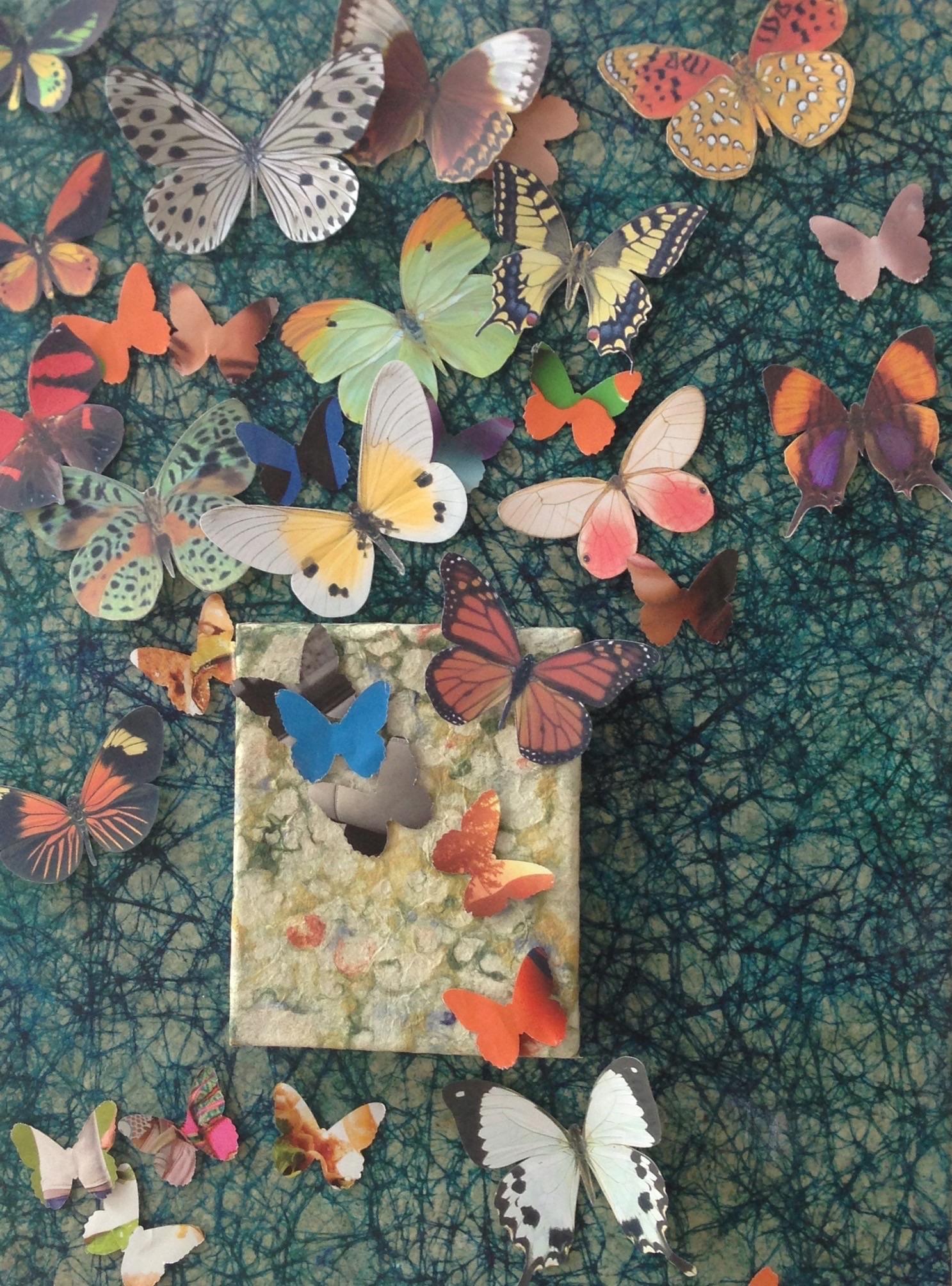 Blue Butterflies Collage-001