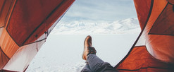 mountain-snow-sunlight-aircraft-boot-red