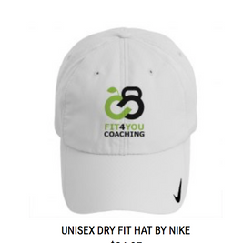 Branded Dry Fit Hat in White