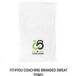 Fit4You Coaching Branded Sweat Towel