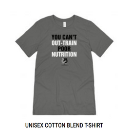 Unisex You Can't Out-Train Poor Nutrition T-Shirt