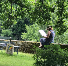 sketching in the garden at the villa, France 2019