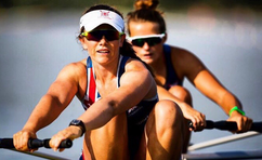 Alumna Sam Courty with the GB Rowing Team