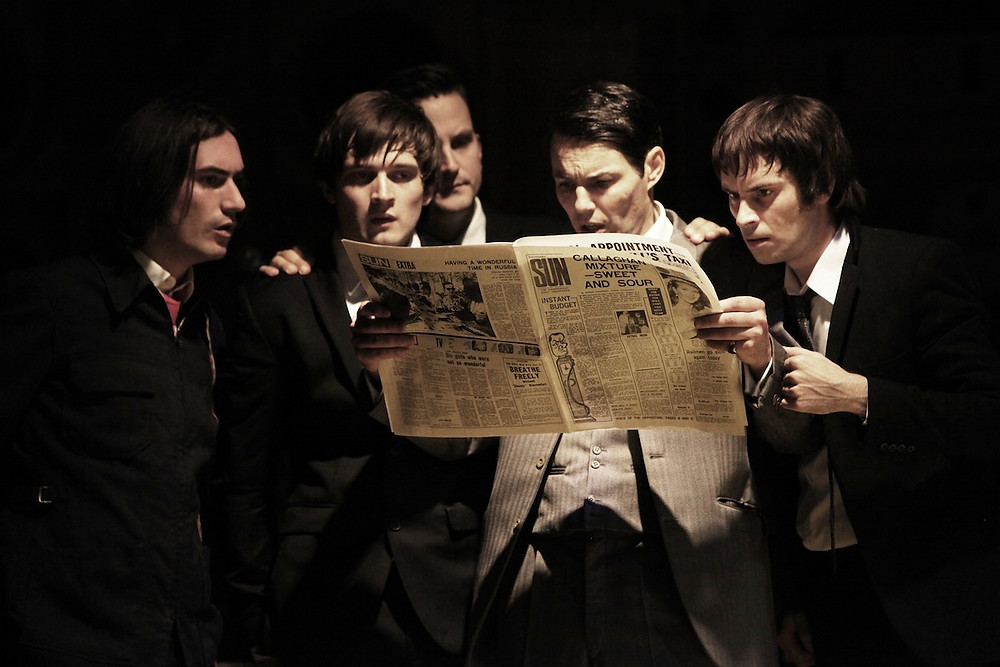 George Maguire, Ned Derrington, Dominic Tighe, Tam Williams and Adam Sopp in Sunny Afternoon. Photograph by Kevin Cummins..jpg
