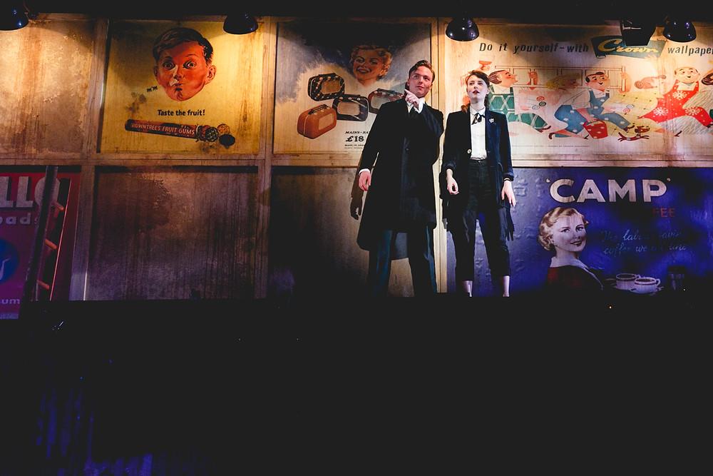 Teddy at Southwark Playhouse. Joseph Prowen (Teddy) and Jennifer Kirby (Josie).