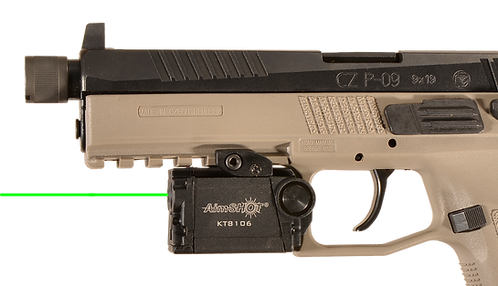 KT8106 Rechargeable Pistol Light (White) and Laser (Green)
