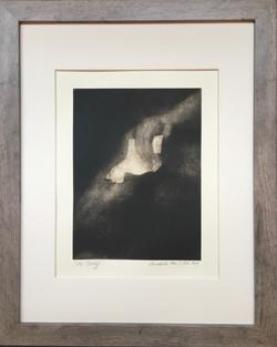 the letter/after Rembrandt's Bathsheba