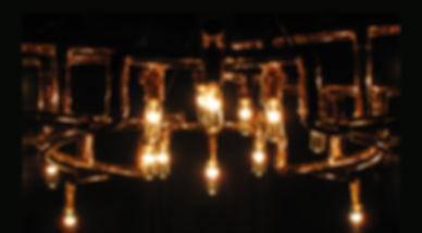 Verrazano custom copper chandelier (detail)