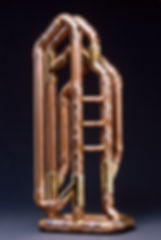 """""""Cathedral"""" copper sculpture by Paul Chepolis"""