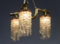 Triton III custom copper and crystal chandelier
