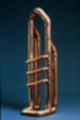 """""""The Diz"""" copper sculpture by Paul Chepolis"""