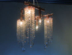 Triton II custom copper and crystal chandelier