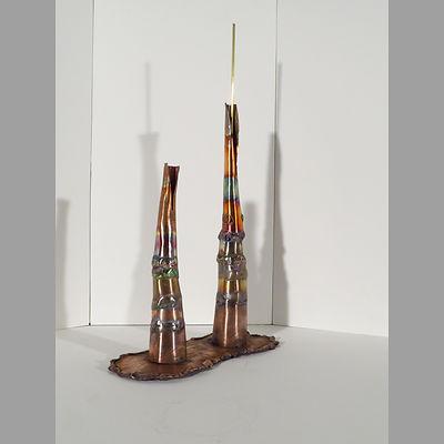 Bi-lyth_Lt oblique, an original, affordable copper sculpture