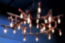 Verrazano custom copper chandelier