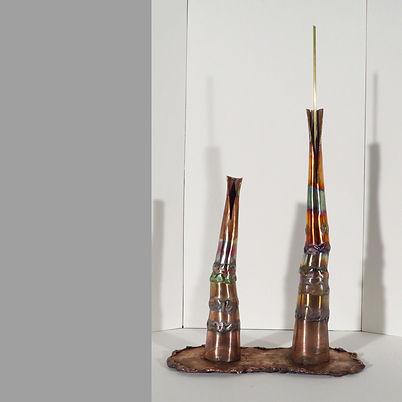 Bilyth, a dual element copper sculpture