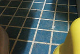 照明・床・水タンク清掃の作業前