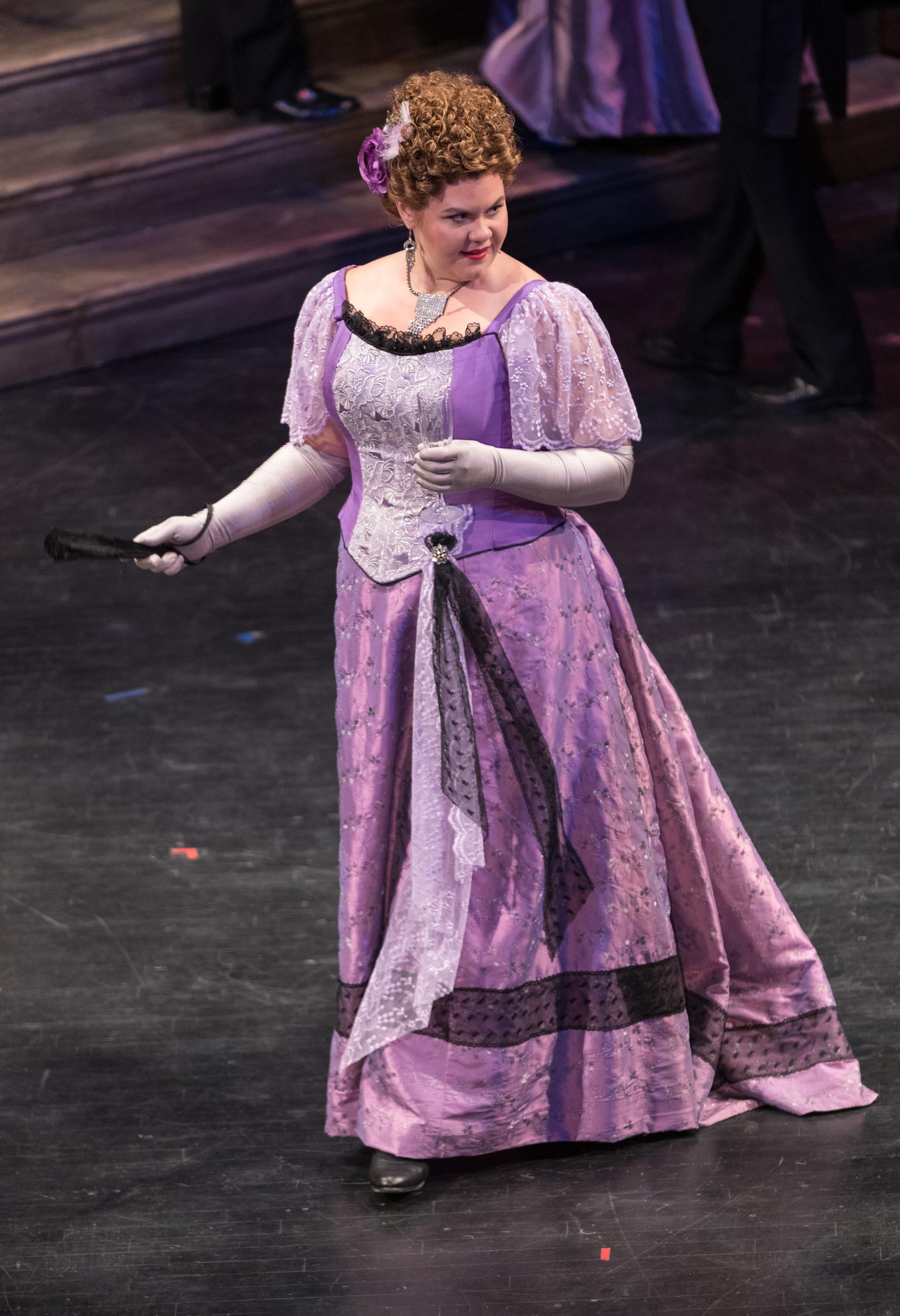 As Flora in La Traviata with Utah Opera. Photo by Dana Sohm
