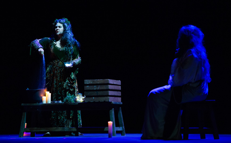 As Ježibaba in a scene from Rusalka with Chautauqua Opera. Photo by Dave Munch