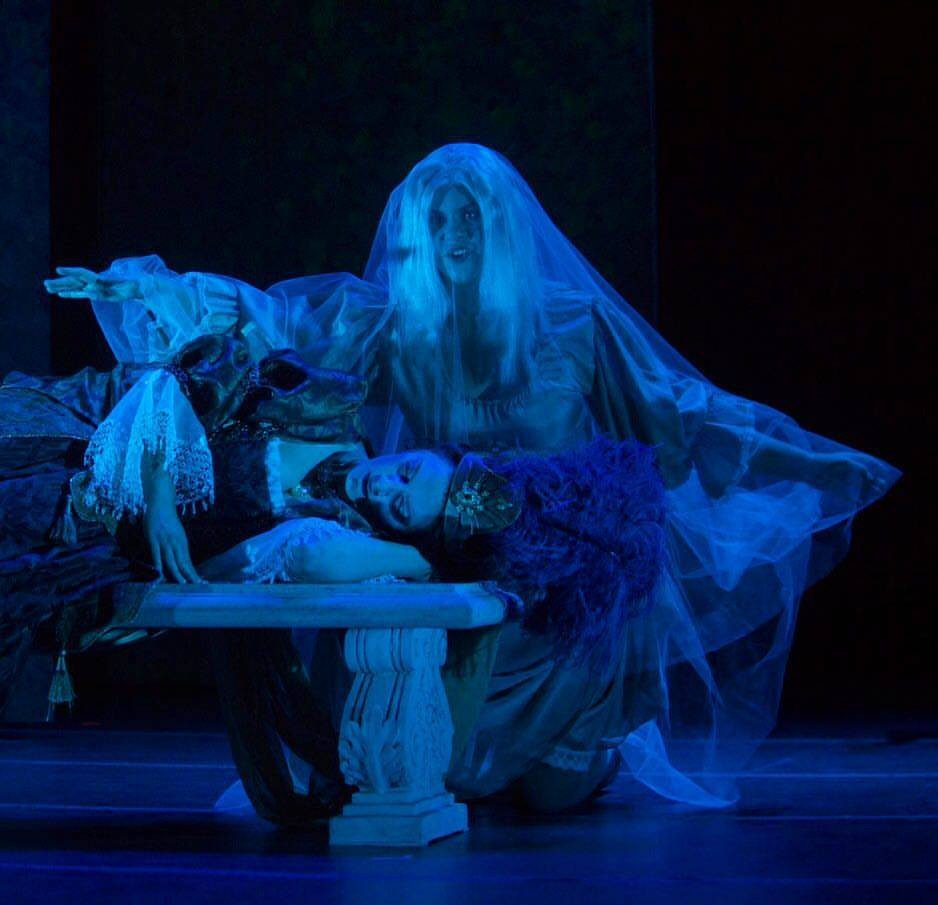 As Songe in Haymarket Opera Company's production of Ariane et Bachus