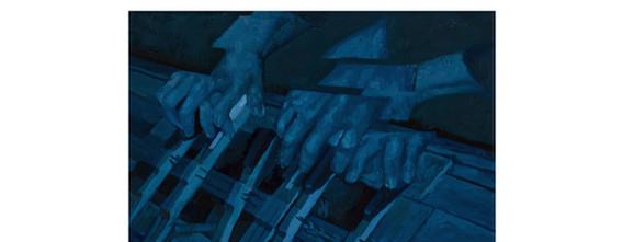 웅얼거리는 소리. 2016. oil on canvas. 53 x 33.4 cm