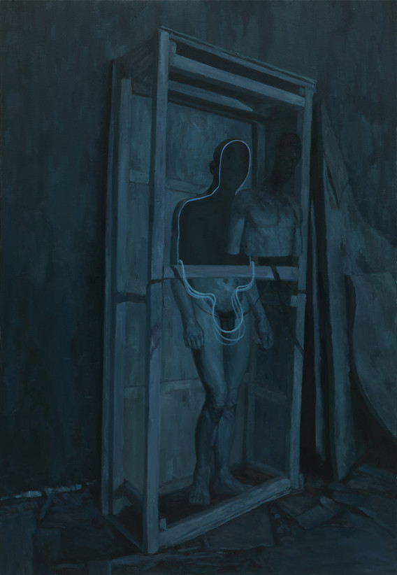 안에 속한 자. 2016. oil on canvas. 89.4 x 130.3 cm