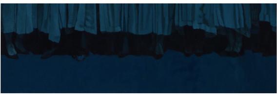 비린 지저귐 3. 2017. oil on canvas. 130.3 x 42 cm