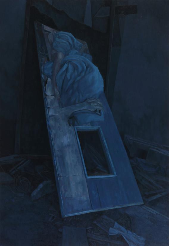 누워있는 사람. 2016. oil on canvas. 112 x 162.2 cm