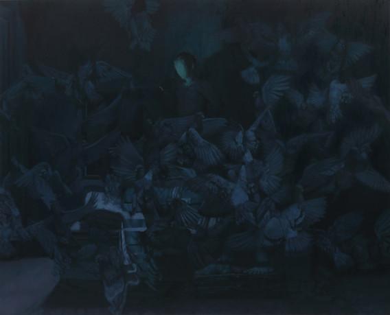 비린 지저귐 4. 2017. oil on canvas. 162.2 x 130.3 cm