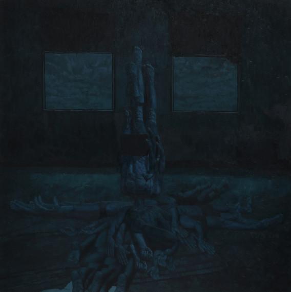 머리 된 자. 2017. oil on canvas. 130.3 x 130.3 cm