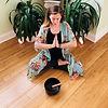 Lindsay Bauer Licensed Therapist in Philadelphia Office Meditating