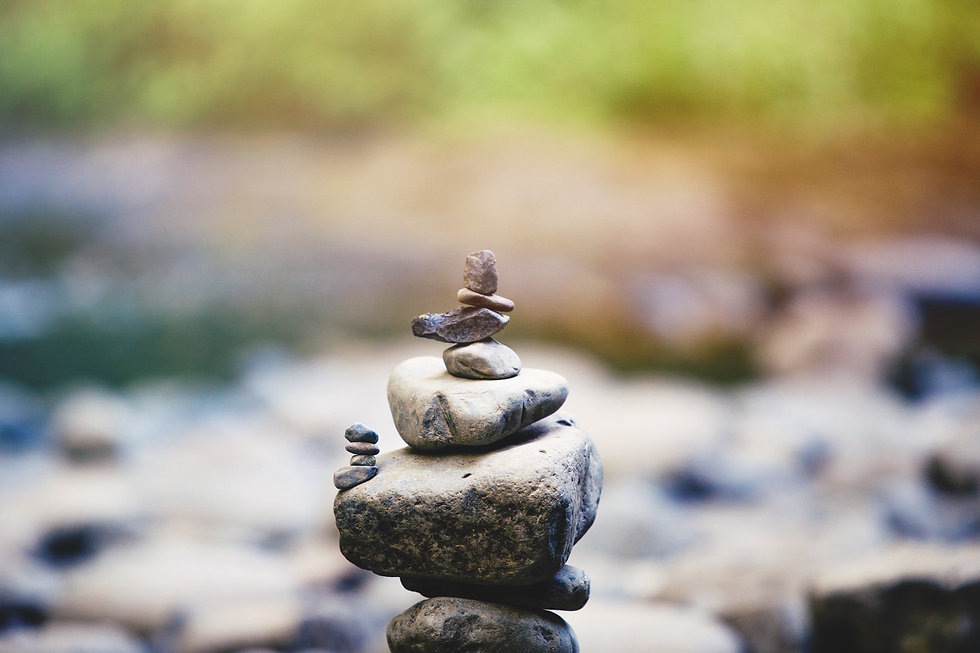 Rocks Balancing Symbolizing Mind Body Wellness