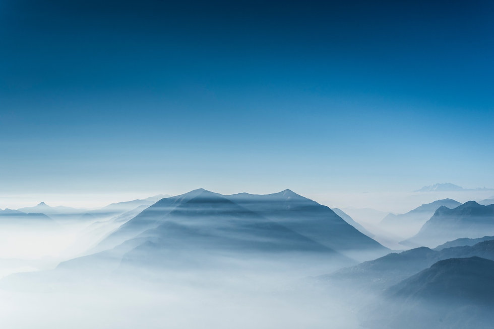 Mountain in Clouds Therapeutic Imagery