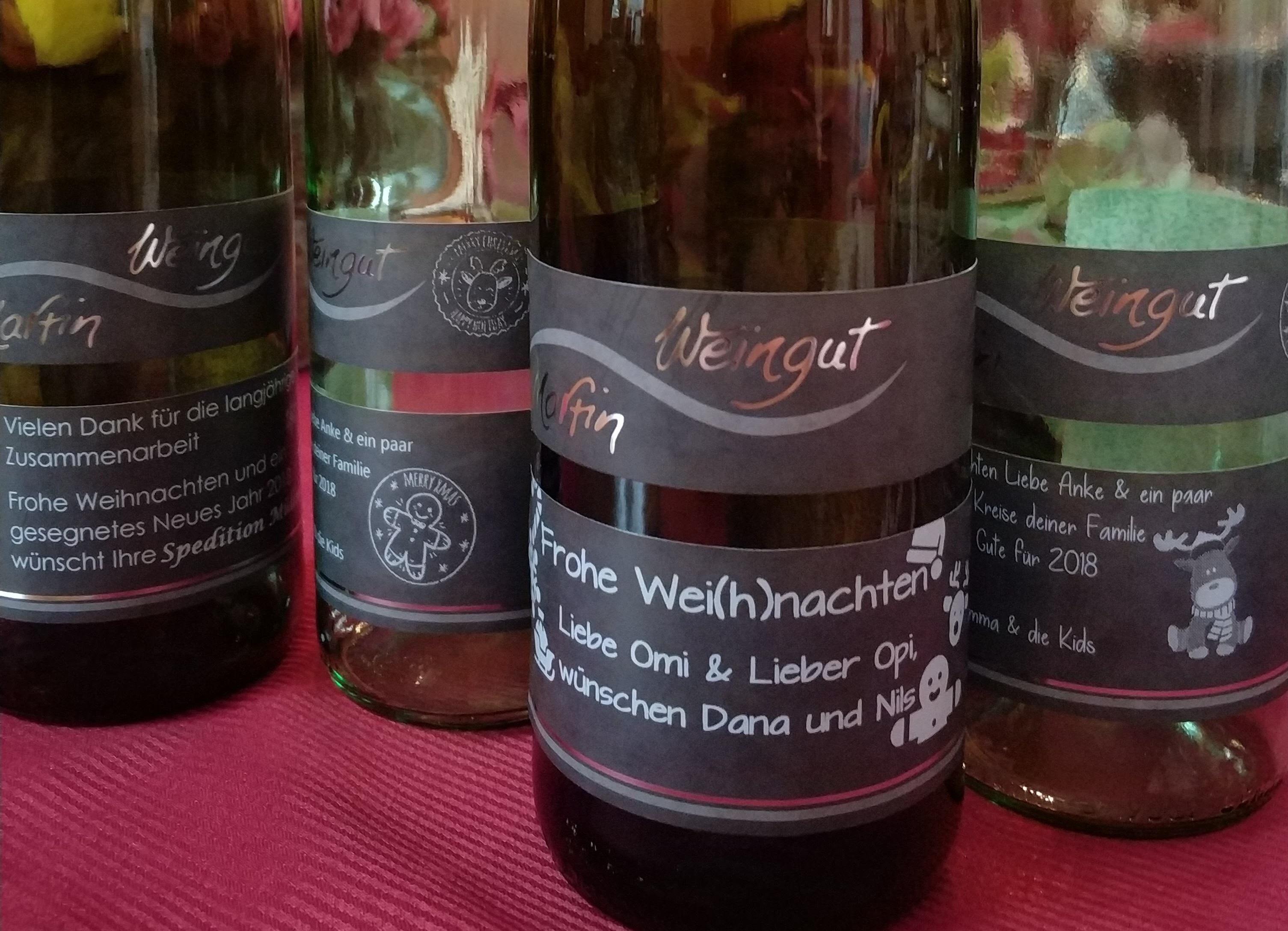 Wei(h)nachtliche Etiketten