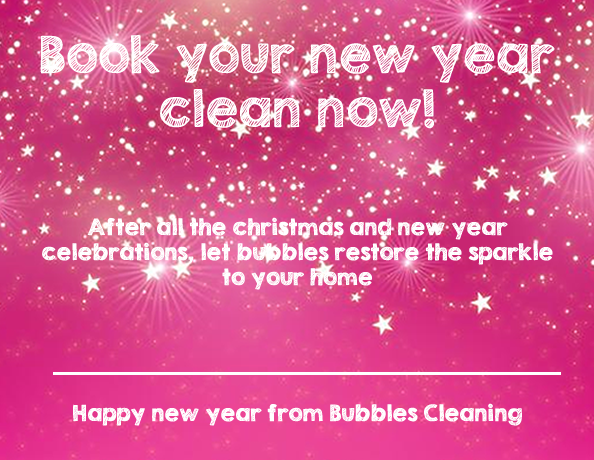 Book your new year clean
