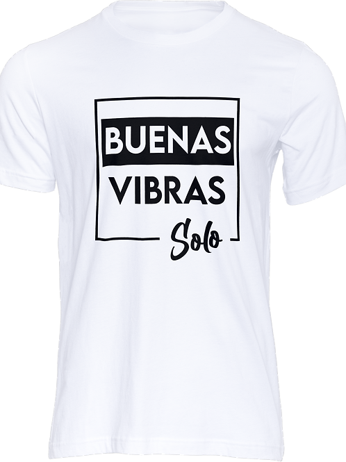 Camiseta Buenas Vibras blanco