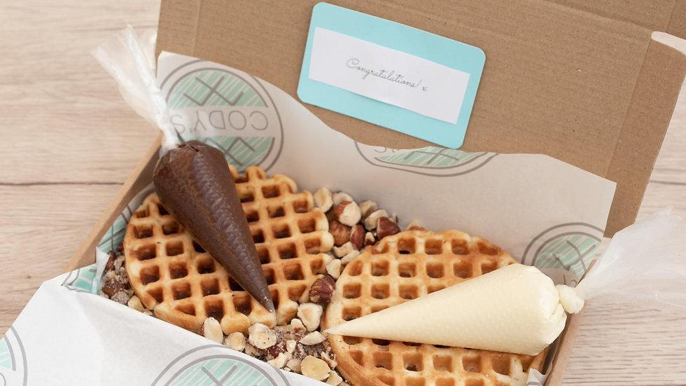 White & Milk Chocolate with Crushed Hazelnuts