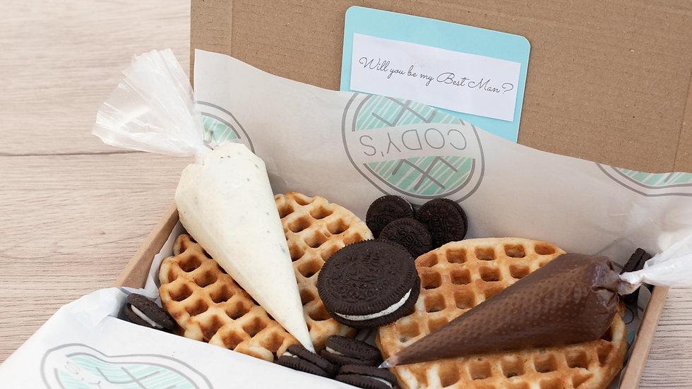 Cookies and Cream Chocolate & Milk Chocolate with Mini Oreos
