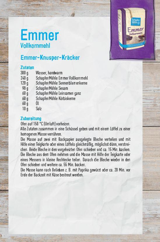 Janine Berger, Schapfenmühle SSV-Ulm rezept Emmer Mehl