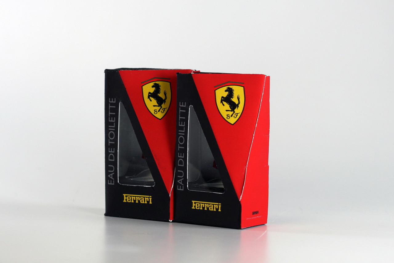 Ferrari eau de toilette Packaging
